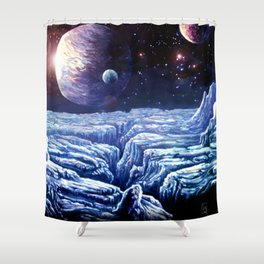 Frost Moon Shower Curtain