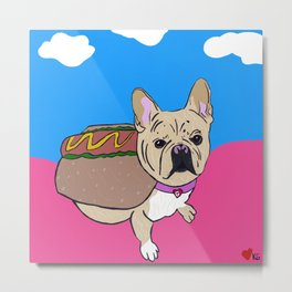 French Bulldog in Costume Metal Print