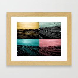 Riding on the metro, color Framed Art Print
