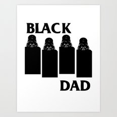 Black Dad Art Print