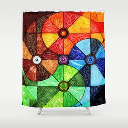 Earth Air Fire Water Ether Shower Curtain