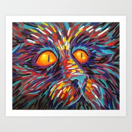 dog fa Art Print