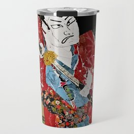 The Green Eyed Samurai Travel Mug