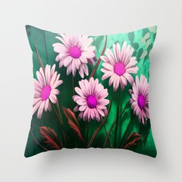 Mythical SunFlowers Throw Pillow