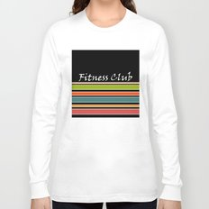 The fitness club . Sport . Colorful stripes on black background . Long Sleeve T-shirt