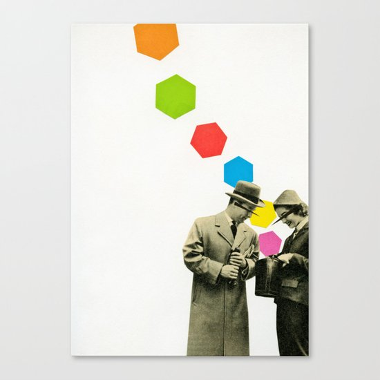 Look What I Brought! Canvas Print