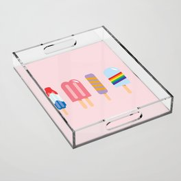 Popsicles - Four Pack Pink #267 Acrylic Tray