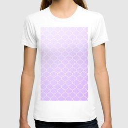 Purple Lattice Pattern T-shirt