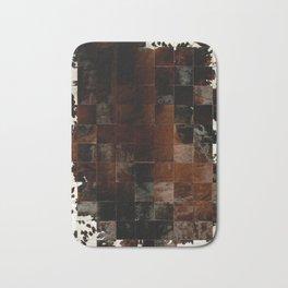 cowhide texture patchwork Bath Mat