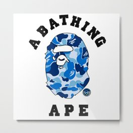 Bape A Bathing Blue Metal Print