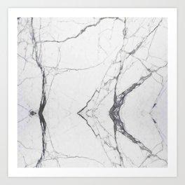 White Carrara Marble Art Print
