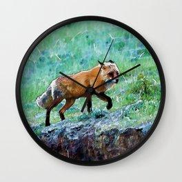 Yukon Wildlife  - Red Fox Wall Clock