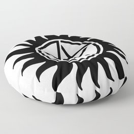Anti Possession Sigil Black Floor Pillow