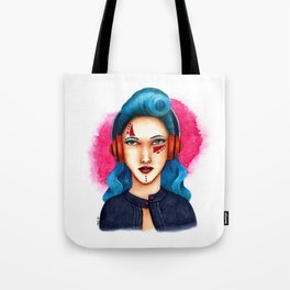 Janie - The Girl with Headphones Tote Bag