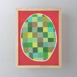 Abstract green egg Framed Mini Art Print