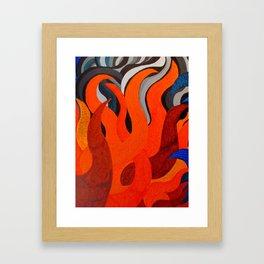 Battle of the Elements: Fire Framed Art Print