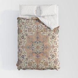 Fine Persia Tabriz Old Century Authentic Colorful Blue Rust Orange Vintage Patterns Comforters