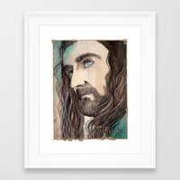 thorin Framed Art Prints featuring Thorin by Kinko-White