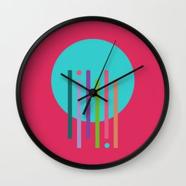 Classic Guitar Colorful Abstract Wall Clock