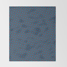 Art Deco Pattern in blue, purple, yellow and teal repeating circles Throw Blanket