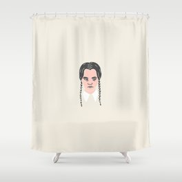 Inktober Day 13 - Wednesday Addams Shower Curtain