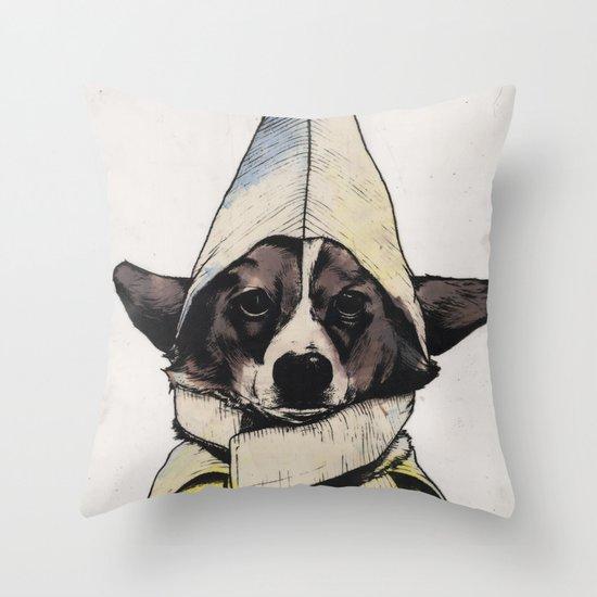 Banana Dog Throw Pillow