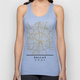DALLAS TEXAS CITY STREET MAP ART Unisex Tank Top