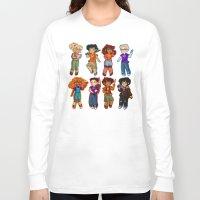 percy jackson Long Sleeve T-shirts featuring Chibis V2  by chubunu