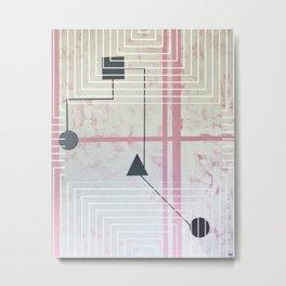 Sum Shape - Line graphic Metal Print
