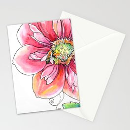 """""""bee light-hearted"""" (no text) botanical watercolor art Stationery Cards"""