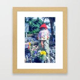 Jizo monk statue - Japan Framed Art Print