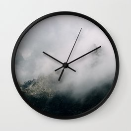 Mountain Range in the Clouds - Landscape Photography Wall Clock