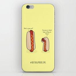 #HotDogProblems iPhone Skin