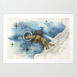 A Space Dog Art Print