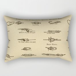 Vintage Diagram of Boating and Angler Knots (1913) Rectangular Pillow