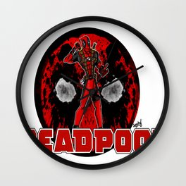 DeadPool - Merc with the Mouth Wall Clock