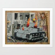 Burning Panzer IV Art Print