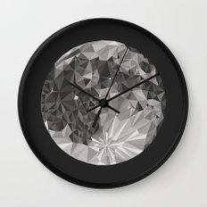 Abstract Full Moon Wall Clock