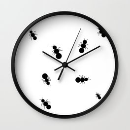 Ants Crawling Everywhere Little Black Army Ants Bugs Wall Clock