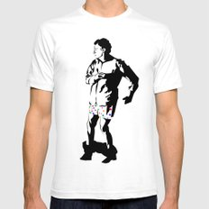 Walter Madness White SMALL Mens Fitted Tee