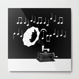 Gramophone Metal Print