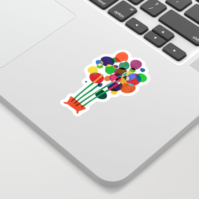 Happy flowers in the vase Sticker