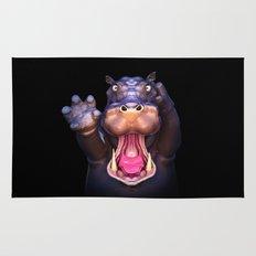 Animal Portraits - Hippopotamus Rug