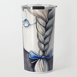 White rabbit Travel Mug