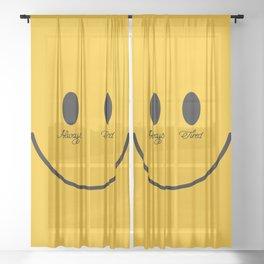 ALWAYS TIRED Sheer Curtain