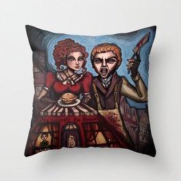 """Sweeney Todd"" Throw Pillow"