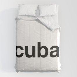 CUBAN Hashtag Comforters