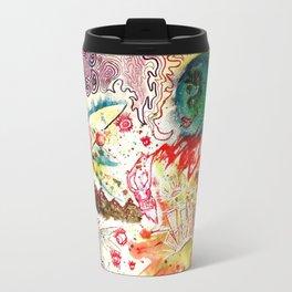 Atoms Space Vision Abstract Acrylic Painting Travel Mug