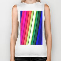 manchester Biker Tanks featuring mANCHESTER pRIDE 323 by ANGELA SEAGER - Photo-based Artist