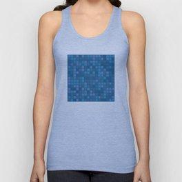 november blue geometric pattern Unisex Tank Top